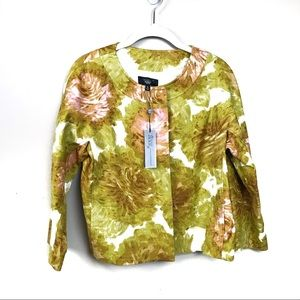 New with tags Talbots floral Jackie fit blazer 8p
